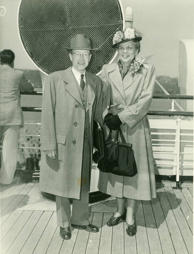 Howard and Mabel Gould, off to Europe