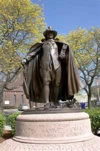 Samuel Chapin, statue by Augustus Saint Gaudens