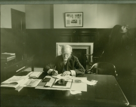 Banker George Henry Gould at his desk