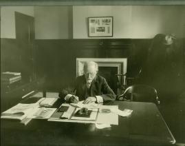 Banker George Henry Gould at his desk