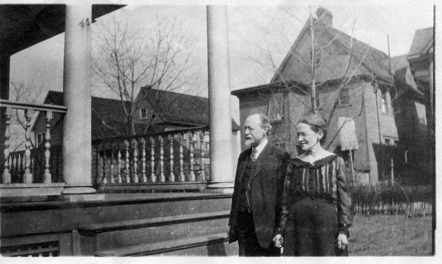 Family.George and Lina Gould outside 720 Avenue C.from Doris