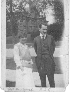 Marjorie and her older brother Russell Gould.